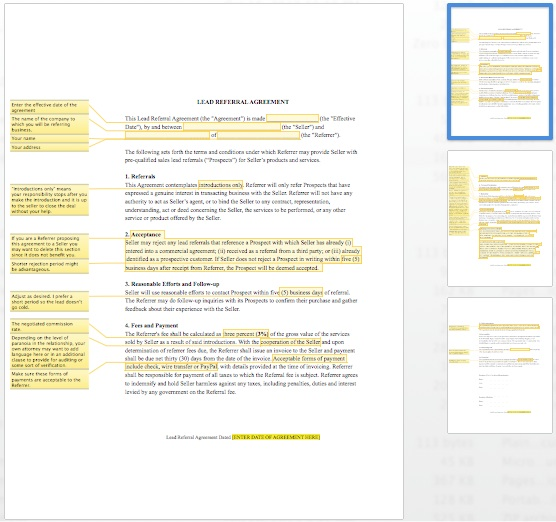 Referral Document Template Gallery - Template Design Ideas
